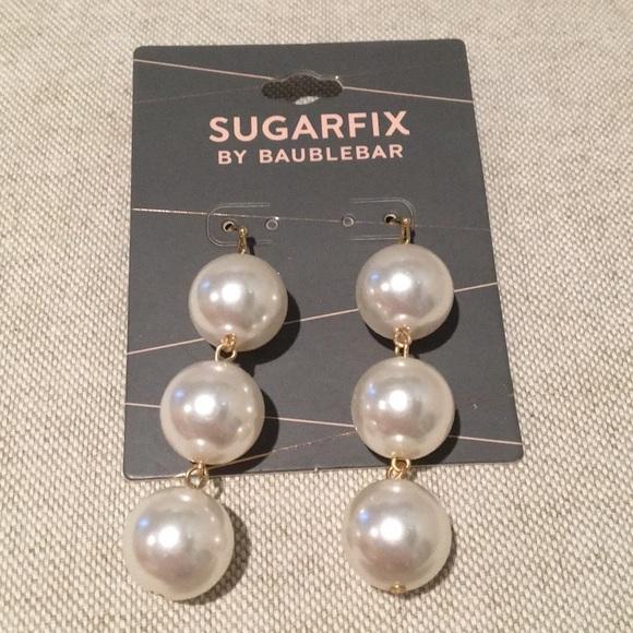 3121890436f72 NWT Sugarfix by Baublebar Pearl Drop Earrings NWT